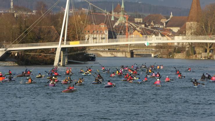 Am kommenden Samstag kommt es auf der Aare in Solothurn zum ersten der vier Wintercuprennen 2019/20.