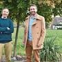 Hampi Budmiger (l.) und Dominik Peter freuen sich über das gute Wahlergebnis der GLP.