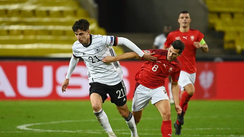 Unentschieden: Die Schweiz spielt 3:3 gegen Deutschland