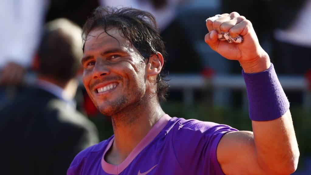 Geschafft: Rafael Nadal gewinnt in Barcelona zum zwölften Mal.