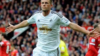 Gylfi Sigurdsson schoss Swansea im Old Trafford zum Sieg