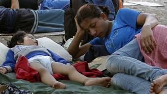 Migranten in Serbien.