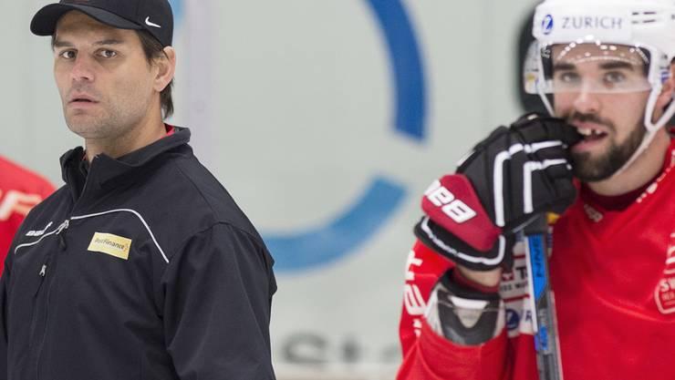 Thierry Paterlini (links) ist nun neuer Trainer von La Chaux-de-Fonds