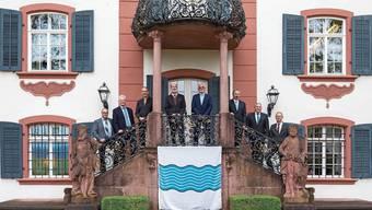 Das war bei der Vertragsunterzeichnung: Die Ammänner der Gemeinden, die sich zur neuen Ortschaft «Zurzach» zusammenschliessen. Die meisten werden nicht im neuen Gemeinderat vertreten sein.