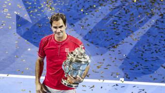 Rekordsieger in Basel: Roger Federer. Die Swiss Indoors hätten in diesem Jahr ohnehin ohne ihn stattgefunden. Nun bleibt Federer Titelverteidiger.