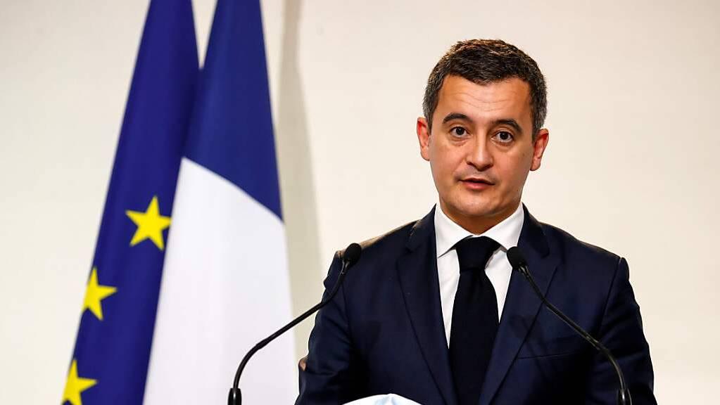 Gerald Darmanin, Innenminister von Frankreich, spricht auf einer Pressekonferenz. (Archivbild)