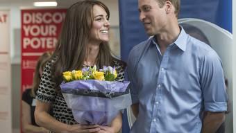 Herzogin Kate und Prinz William besuchten am Samstag anlässlich des Welttages der psychischen Gesundheit eine Einrichtung für psychisch Kranke in London.