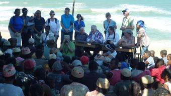 Thomas Kyburz-Boutellier (Pfeil) verbrachte zwei Wochen auf Madagaskar. zvg