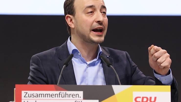 Verwechselte zwei Terrorfälle: Paul Ziemiak, der neu gewählte CDU-Generalsekretär.