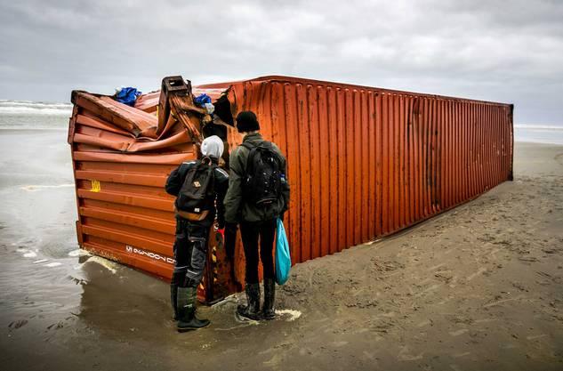 Freiwillige haben die Küste nach der Havarie gereinigt.