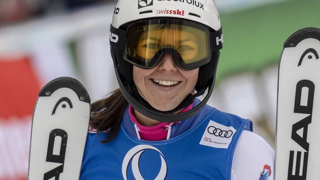 Wendy Holdener zeigt auch in Oslo das Lächeln einer Podestfahrerin