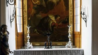 Das Altarbild blieb im Blumenstein, die Kapelleneinrichtung war jedochnicht authentisch, wie dieses Bild von 1986 belegt.