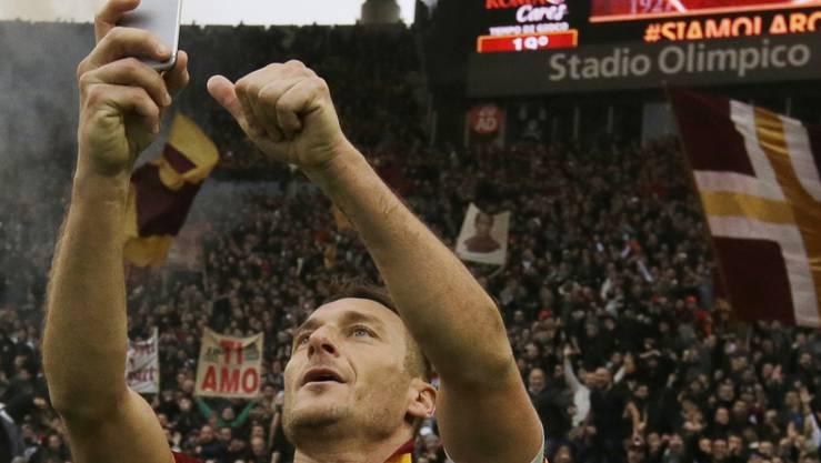Francesco Totti ist die Identifikationsfigur der AS Roma.