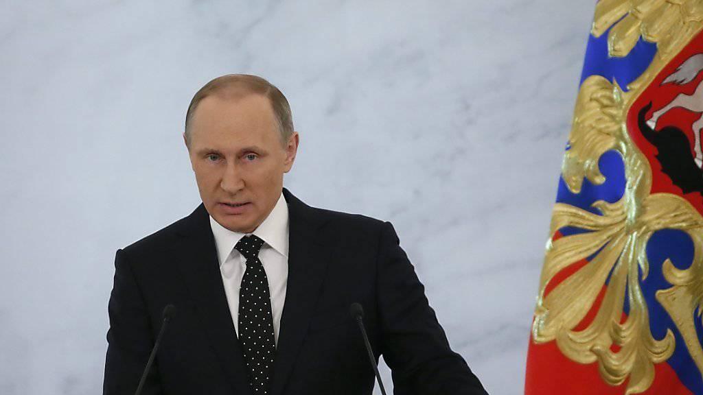 Putin hält sich nicht zurück: In seiner Rede zur Nation droht der russische Präsident der Regierung in Ankara offen - sie werde den Abschuss des russischen Kampfjets noch «mehr als einmal» bereuen.