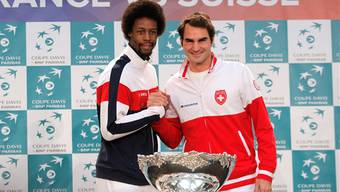 Gaël Monfils und Roger Federer vor dem Showdown in Lille.