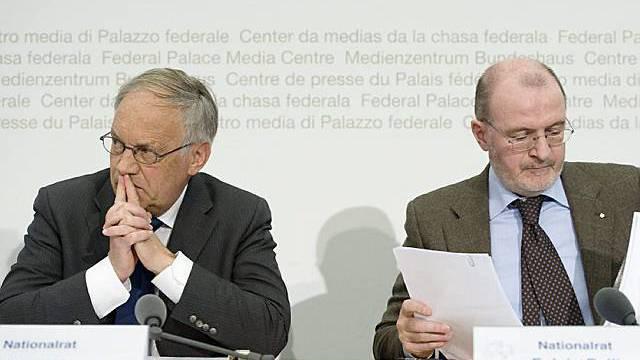 Die Nationalräte Johann Schneider-Ammann (l) und Fulvio Pelli