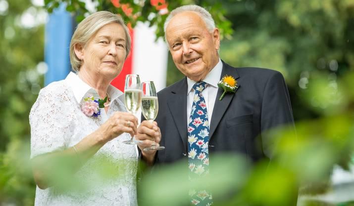 Liebespaar Silvia und Herbert Berner haben sich am Maienzug lieben gelernt.