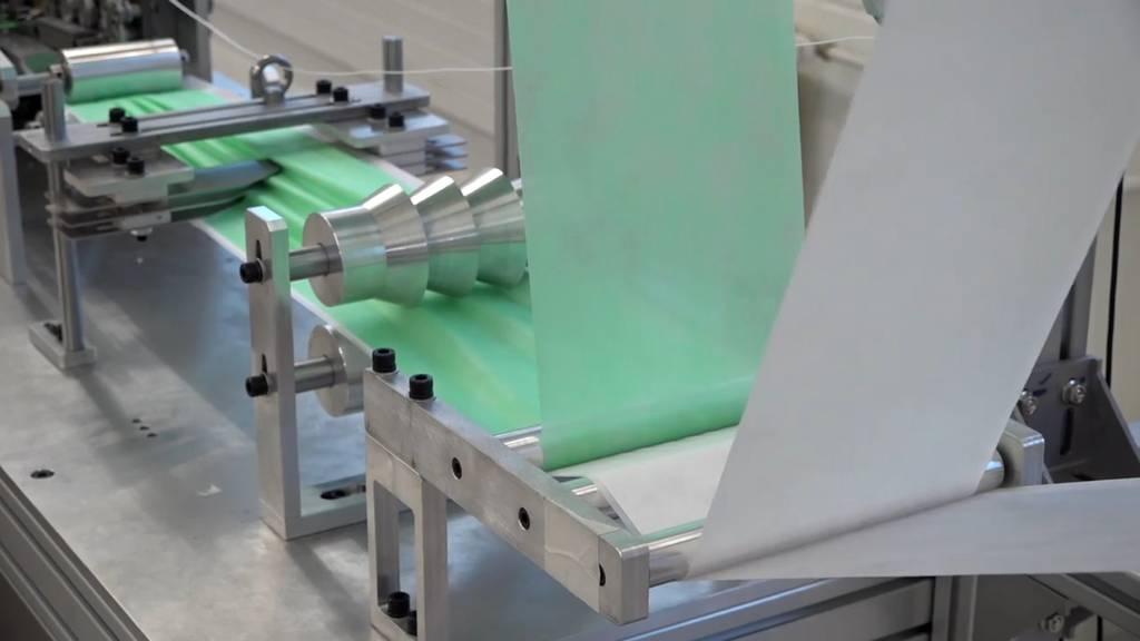 Schweizer Schutzmaskenproduktion gestartet
