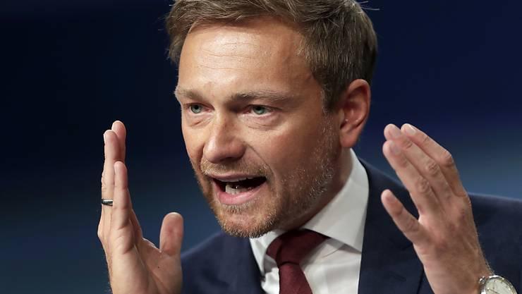 Seine Partei will zurück in den Bundestag, er selbst könnte je nach Koalitionsbildung sogar deutscher Aussenminister werden: FDP-Chef Christian Lindner (in einer Aufnahme vom 28. April 2017).