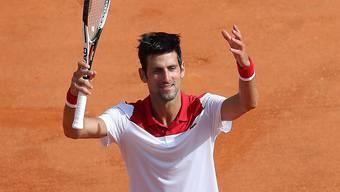 Der ehemalige Weltranglistenerste Novak Djokovic jubelt nach seinem Erstrundensieg