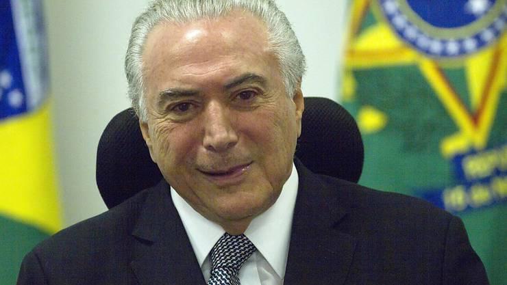 Brasiliens Präsident Michel Temer will nicht zurücktreten (Archiv)