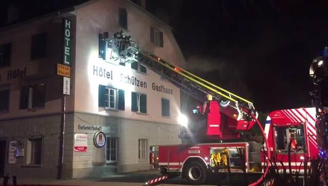 Feuerwehreinsatz beim Schützen in Laufenburg