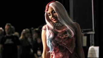 Das Fleischkleid von Lady Gaga (Archiv)
