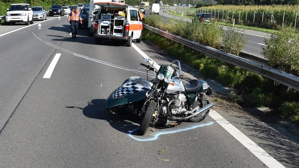Unfall auf der A13