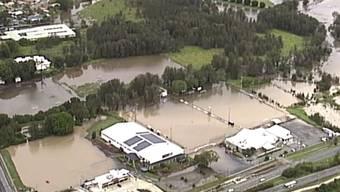 Nach den Bränden die Flut: Überschwemmtes Gebiet an der Goldküste in Australien.