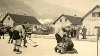 In Oensingen lebte die Eishockey-Leidenschaft auf dem Areal der heutigen Armaturenfabrik von Roll AG hoch.