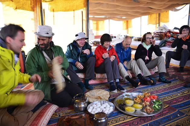 Bedroht: Gästezelt der Al-Auja-Beduinen im Jordantal.