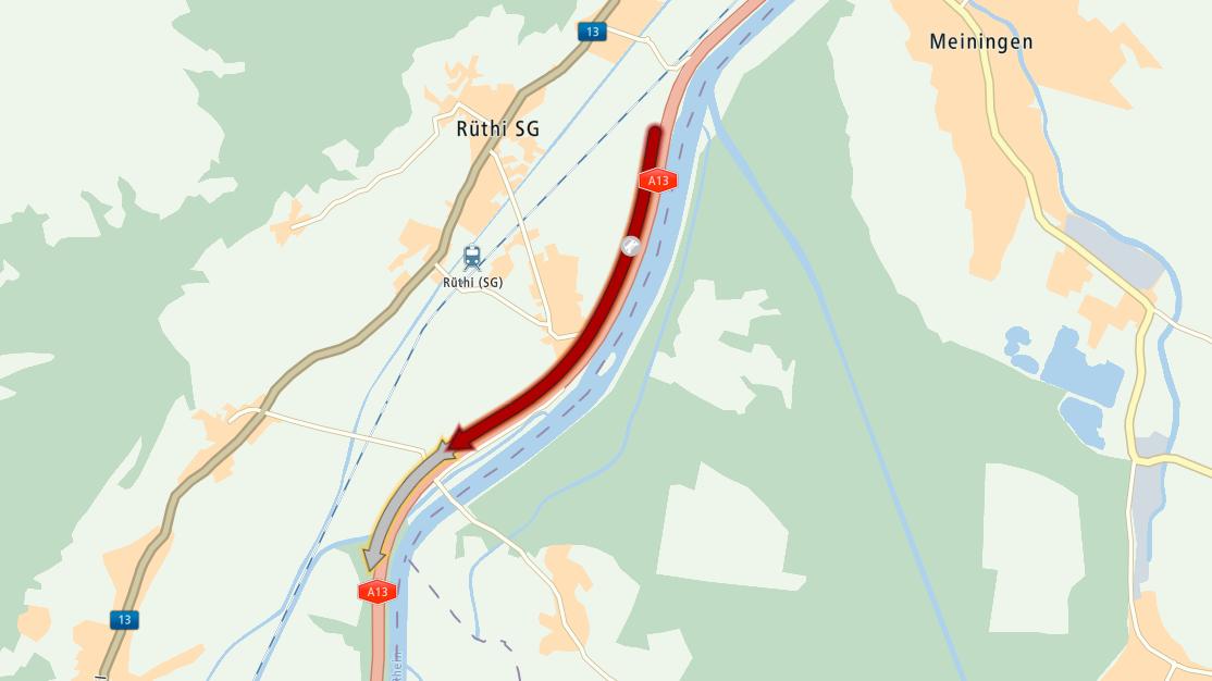 Auf der Autobahn A13 war nach einem Unfall Geduld gefragt.