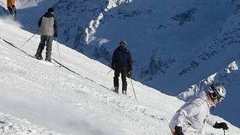 Skifahrer in Arosa