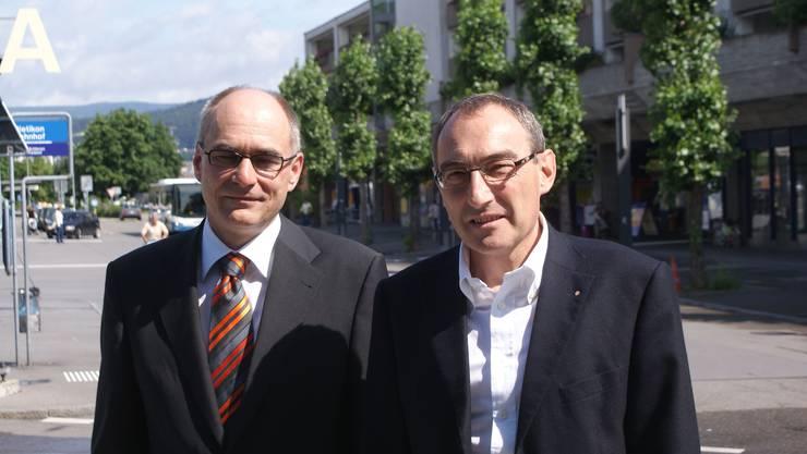 Nominiert: Johannes Felber (l.) und Rolf Schaeren wollen im Dietiker Stadtrat bleiben. (dvk)
