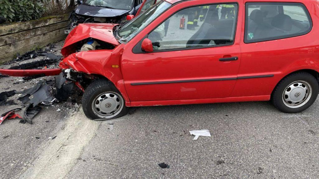 Zwei Verletzte nach Frontalkollision in Flamatt im Kanton Freiburg