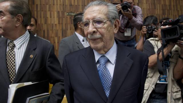 Ríos Montt am 10. Mai bei einer Gerichtsanhörung in Guatemala City