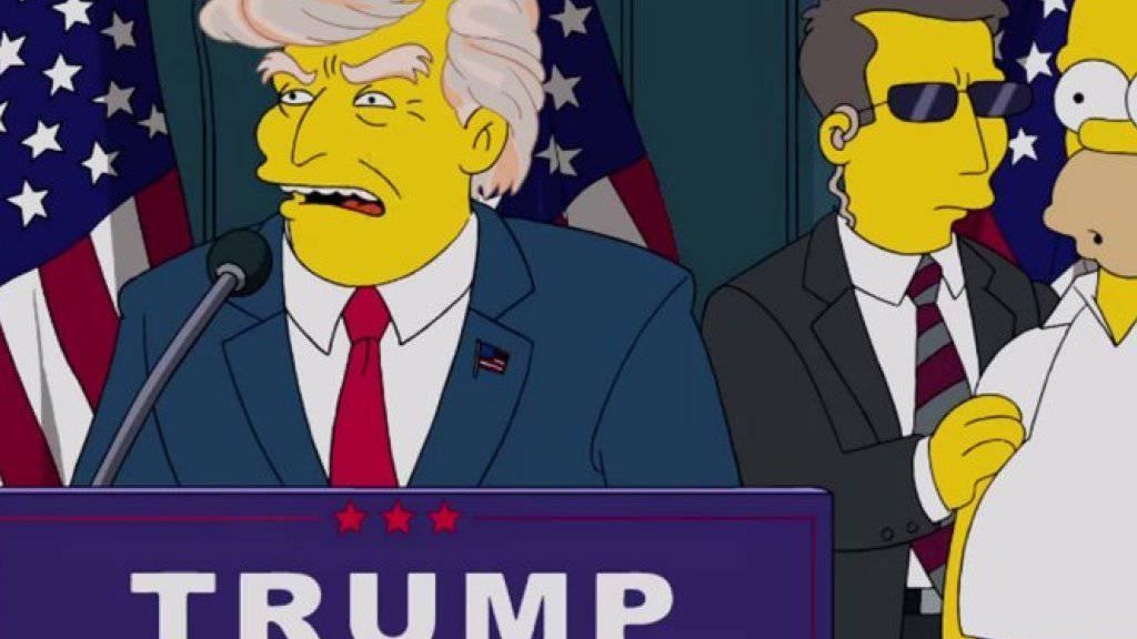 Eine schon fast gespenstisch: Im Jahr 2000 sahen die Simpsons-Macher die Wahl Trumps voraus.