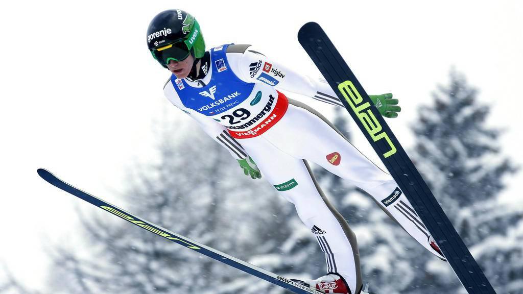Peter Prevc (SLO) siegt bei der Skiflug-Weltmeisterschaft in Bad Mitterndorf, Österreich.