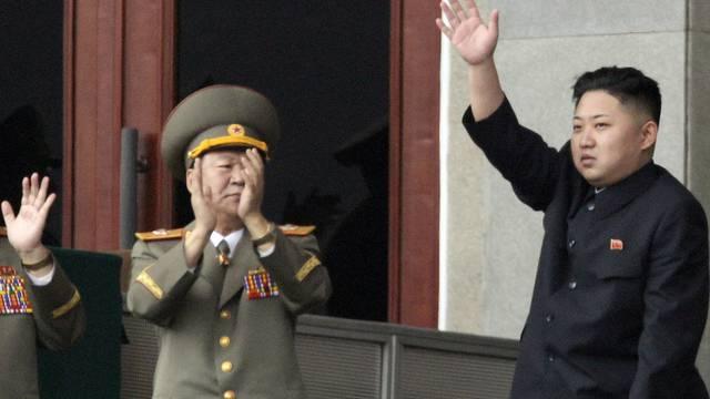 Nordkoreas neuer Machthaber Kim Jong Un während einer Parteiveranstaltung am Samstag