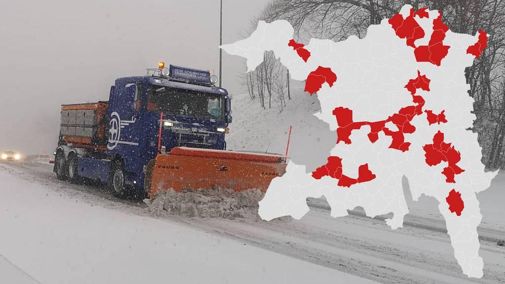 Interaktive Karte: Diese Strassen sind im Aargau gesperrt