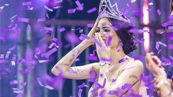 Jastina Doreen Riederer bei der Wahl zur Miss Schweiz.