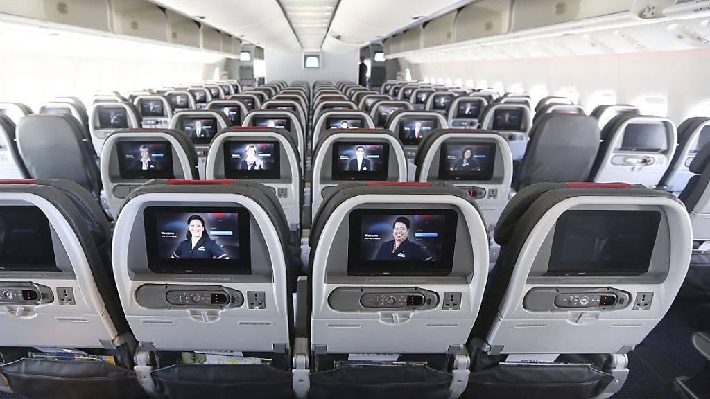 Feuchter Zwischenfall an Bord eines US-Flugzeugs: Mann pinkelt auf Passagiere (Symbolbild)