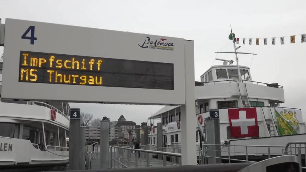 Impfen auf See: Bundesrat Berset begleitet Eröffnung von «MS Thurgau»