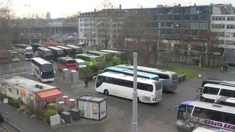 Der Carparkplatz beim Zürcher Hauptbahnhof. Hier soll das neue Kongresszentrum entstehen.