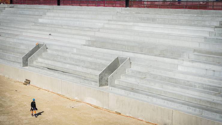 Die Bauarbeiten für das neue Lausanne-Stadion befinden sich im Endspurt.