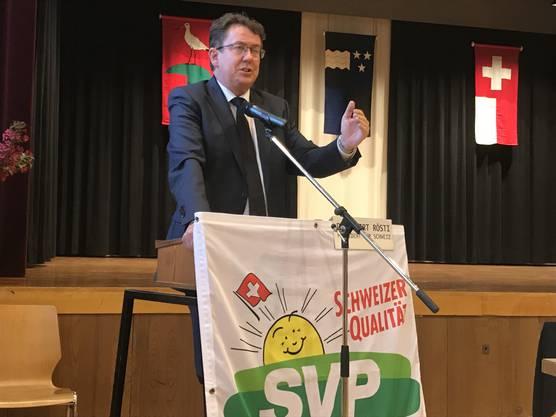 Nationalrat Albert Rösti, Präsident SVP Schweiz