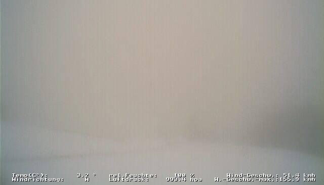 Viel Landschaft geht aber im Schneetreiben unter.