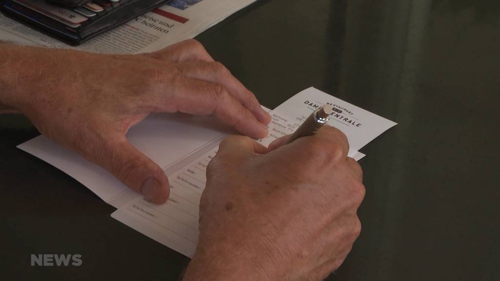Registrationspflicht ab Montag auch in Restaurants obligatorisch