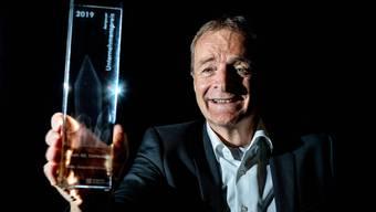 Strahlender Gewinner: Die Firma Bertschi Transporte mit VR-Präsident Hans-Jörg Bertschi gewann in der Kategorie Grossunternehmen.