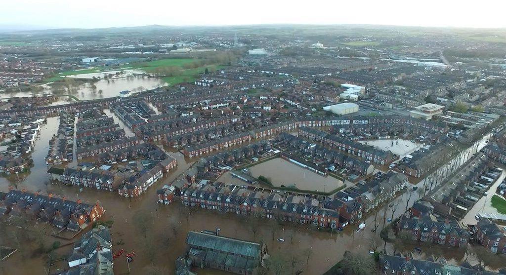 Hochwasser in England (© Keystone)